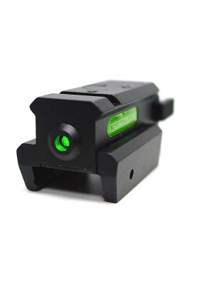 Tactical Pistol Under Rail Flashlight Mount with Green Dot Laser