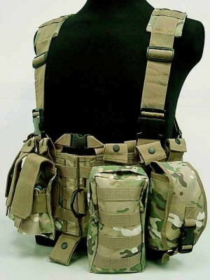 US Delta Force Elite Hydration Molle Vest Multi Camo