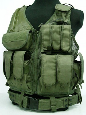Airsoft Tactical Hunting Combat Vest OD