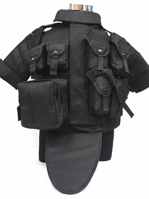 OTV Body Armor Carrier Tactical Vest Black