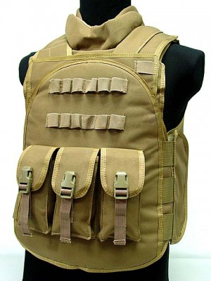 Airsoft Paintball Tactical Combat Assault Vest Coyote Brown