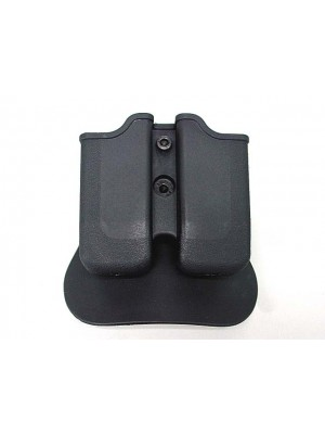 IMI Style Universal Double Pistol Magazine Pouch Paddle Holster