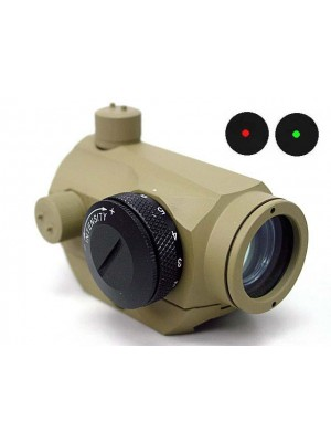 1x24 Micro T-1 Red/Green Dot Sight Scope Tan