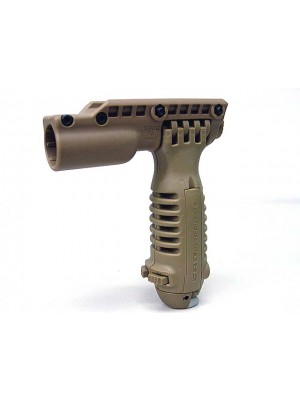 Tactical RIS Total Bipod Flashlight Holder Foregrip Grip Tan