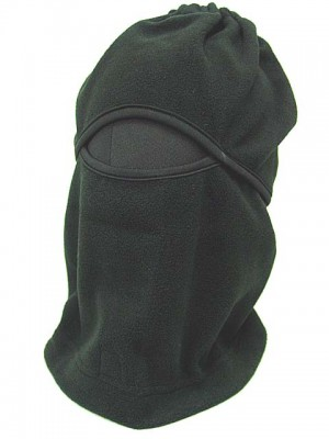 Balaclava Hood 1 Hole Head Face Warmskin Mask & Scarf Black