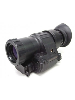 PVS-14 NVG Style 3x Magnifier Scope with Red Laser Black