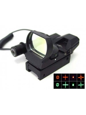 Holographic Multi Reticle Red Green Dot Sight Reflex & Red Laser