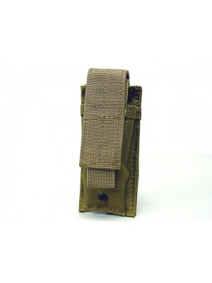 Molle Single Pistol Magazine Pouch Coyote Brown