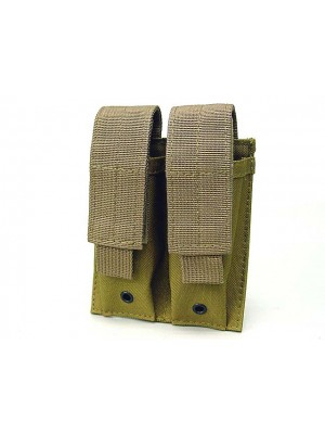 Molle Double Pistol Magazine Pouch Ver.2 Coyote Brown