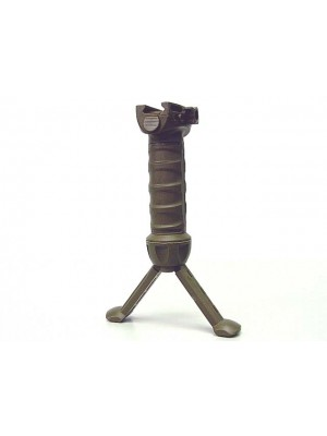 Tactical 20mm RIS Spring Total Bipod Foregrip Grip Tan #B