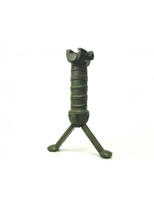 Tactical 20mm RIS Spring Total Bipod Foregrip Grip OD #B