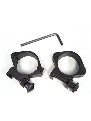 30mm Low QD Scope/Flashlight Metal Ring Mount 20mm Rail