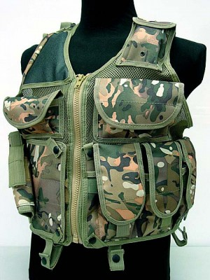 USMC Hunting Combat Tactical Vest Type B Multi Camo