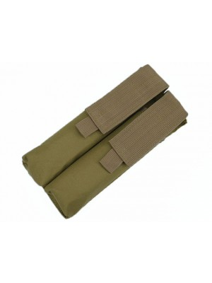Airsoft Molle Double P90/UMP Magazine Pouch Coyote Brown