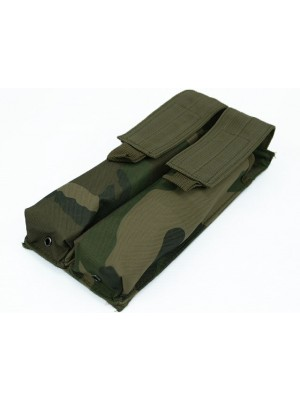 Airsoft Molle Double P90/UMP Magazine Pouch Camo Woodland