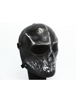 Full Face Ghost Recon Airsoft Mesh Goggle Skull Mask Black