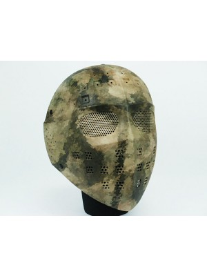 Full Face Hockey Type Airsoft Mesh Goggle Mask A-TACS Camo
