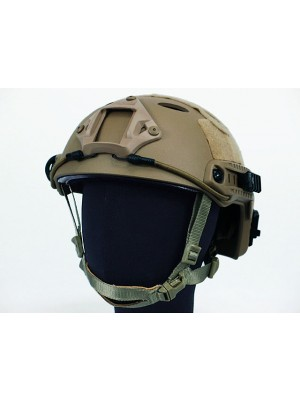 Airsoft FAST Carbon Style Helmet Brown
