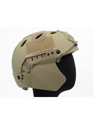 Up-Armor Side Cover for Fast Helmet Rail Tan