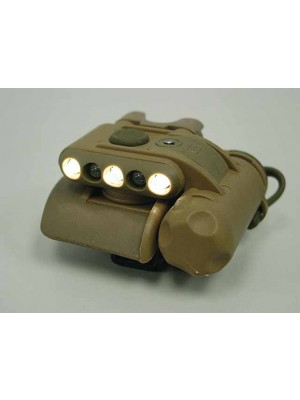 Element GEN II Helmet Light Green/White/IR LED Flashlight Tan