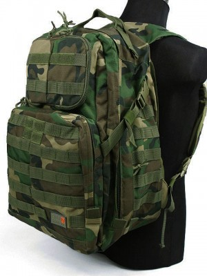 Patrol 3-Day Molle Assault Backpack Camo Woodland