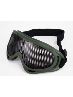 Airsoft UV-X400 No Fog Metal Mesh Tactical Goggle OD