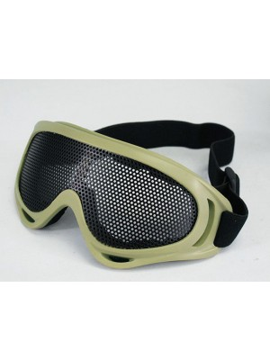 Airsoft UV-X400 No Fog Metal Mesh Tactical Goggle Tan