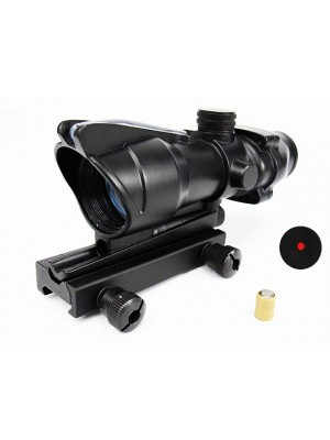 ACOG Type Optical Fiber Red Illuminated Dot Sight (Dual Power)