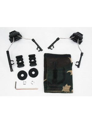 Z-Tactical Helmet Rail Adapter Set for Comtac I/II Headset Black
