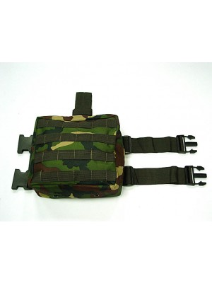 Molle Drop Leg Panel Utility Waist Pouch Bag Camo Woodland