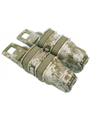 Molle FastMag Magazine Clip Set for Pistol/MP5 Marpat Desert