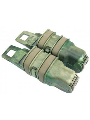 Molle FastMag Magazine Clip Set for Pistol/MP5 A-TACS Camo FG
