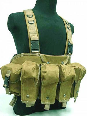 AK Magazine Chest Rig Carry Vest Coyote Brown