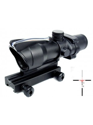 ACOG Type 4x32 Optical Fiber Red Cross Sight Scope Black