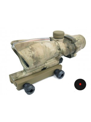 ACOG Type Optical Fiber Red Dot Sight (Dual Power) A-TACS Camo