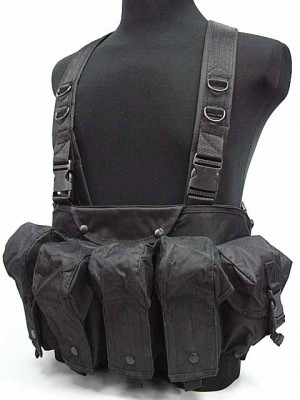 AK Magazine Chest Rig Carry Vest Black