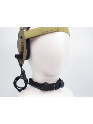 Z Tactical Throat Mic for Bowman EVO III Headset Black - Z045