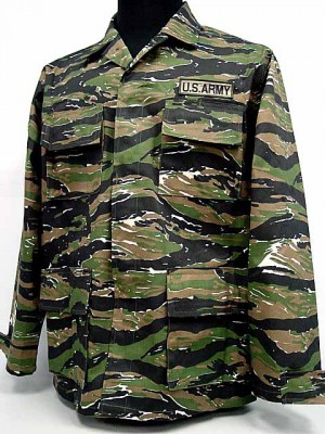 US ARMY Tiger Stripe Camo BDU Uniform Set Shirt Pants
