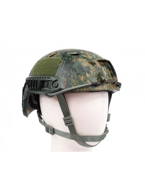 Airsoft FAST Base Jump Style Helmet Digital Camo Woodland
