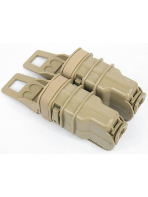 Molle FastMag Magazine Clip Set for Pistol/MP5 Tan