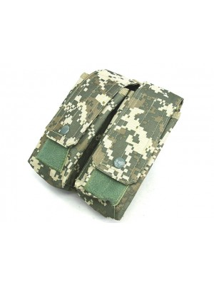 Airsoft Molle Double AK Magazine Pouch Digital ACU Camo