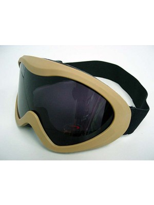 Airsoft X400 Wind Dust Tactical Goggle Glasses Tan-BK