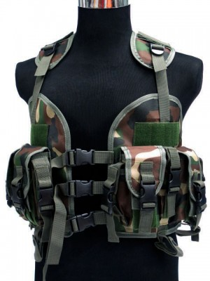US Navy Seal CQB LBV Modular Assault Vest Camo Woodland
