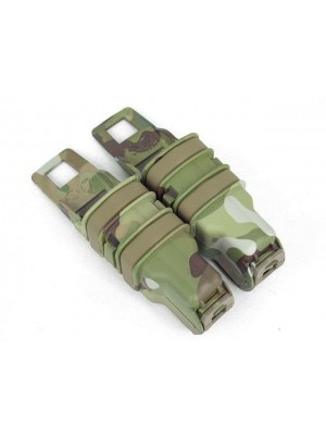 Molle FastMag Magazine Clip Set for Pistol/MP5 Multi Camo