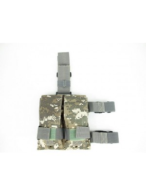 Double Magazine Drop Leg Pouch Digital ACU Camo