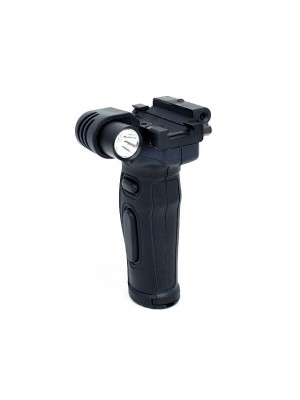 Tactical Grip Foregrip Red Laser with White LED Light Black
