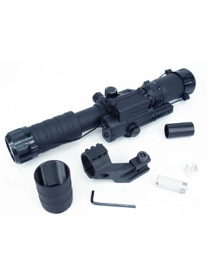 3-9x40 40 Blue Illuminated Crosshair w/ Red Laser Sniper Scope