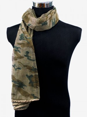 Face Veil Mesh Netting Scarf Mask Wood Camo