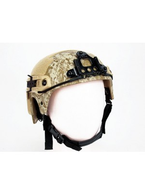 IBH Helmet with NVG Mount & Side Rail Digital Desert Camo