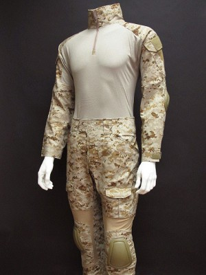 EMERSON Combat Shirt & Pants Digital Desert AOR1 Camo w/Elbow &Knee Pads